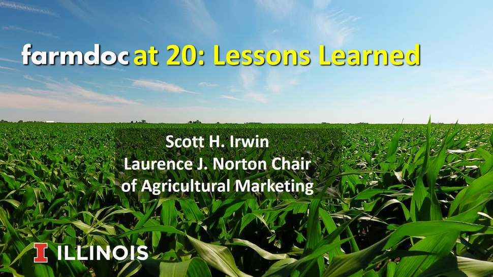 Farmdoc At 20: Lessons Learned